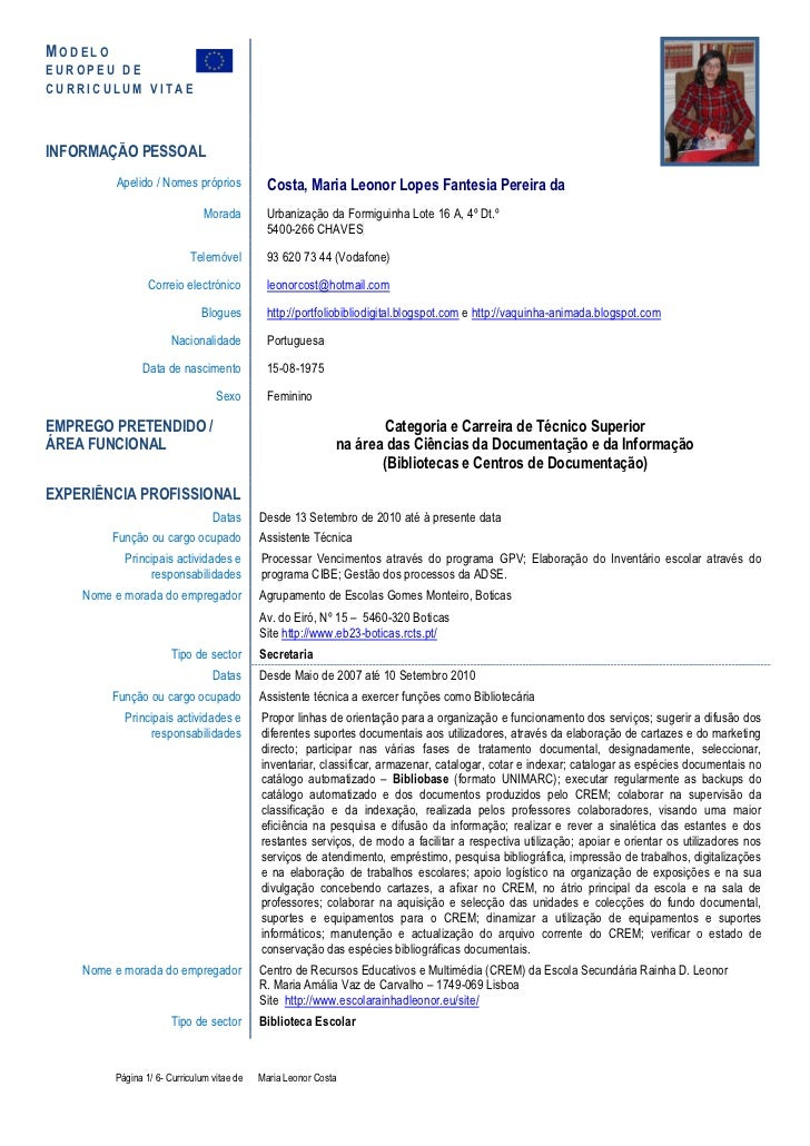 Cv Template Pt Leonor Pt Chaves 15 02 2012