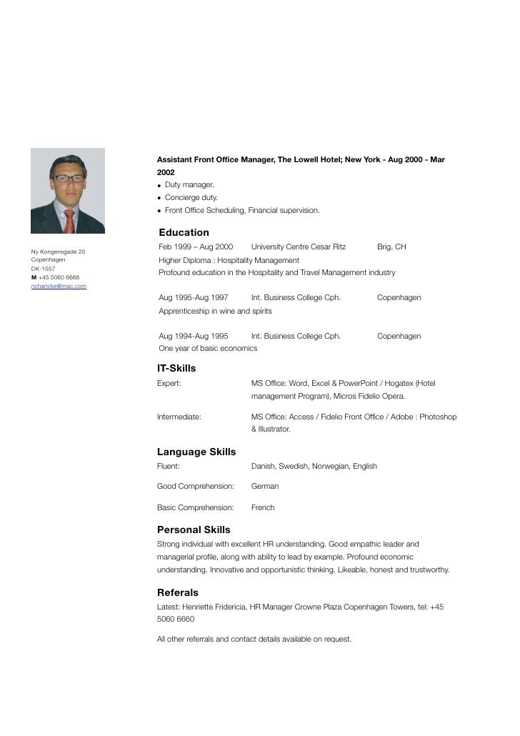 Front Office Manager Resume  Resume For Front Desk