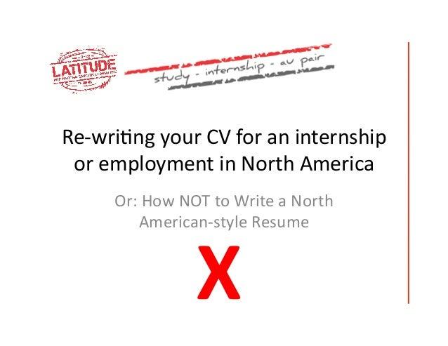 cv vs resume how to write a resume
