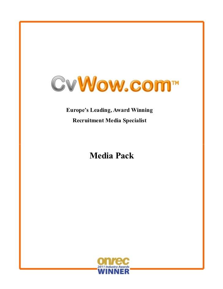 Europe's Leading, Award Winning  Recruitment Media Specialist        Media Pack