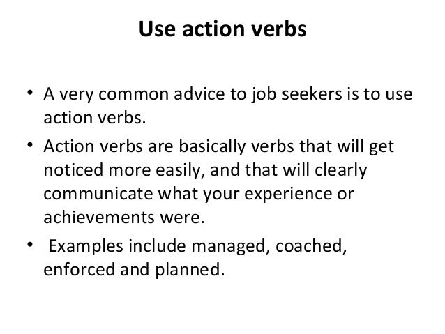 Verbs to use on teacher resume - Affordable Price - yougottabelieve.info