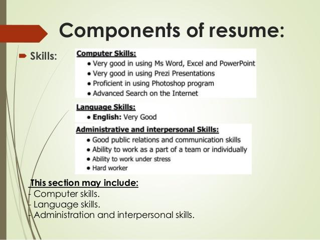 computer skill resume - Computer Skills For Resume