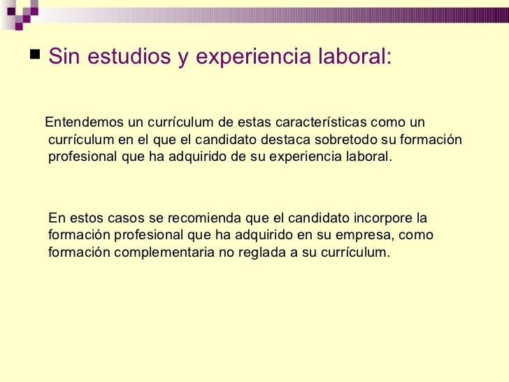 curriculum vitae sin experiencia laboral 18 a os