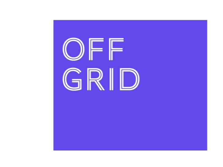 Off Grid: matching you with local people