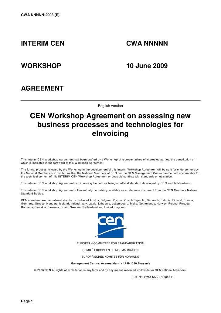 CWA NNNNN:2008 (E)     INTERIM CEN                                                                  CWA NNNNN   WORKSHOP  ...