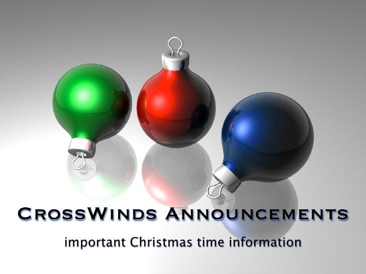 Christmas Announcements