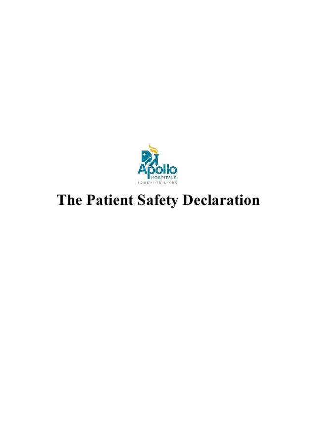 The Patient Safety Declaration