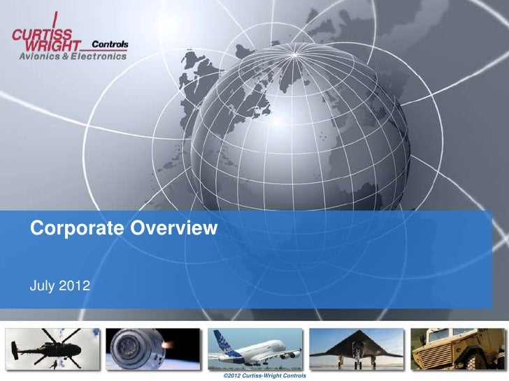 Corporate OverviewJuly 2012                     ©2012 Curtiss-Wright Controls