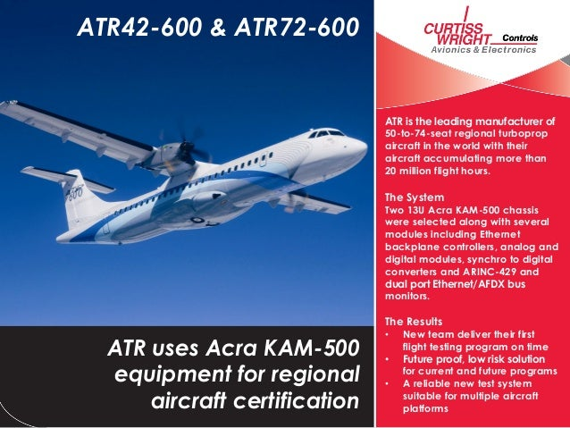ATR is the leading manufacturer of 50-to-74-seat regional turboprop aircraft in the world with their aircraft accumulating...