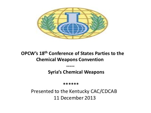 OPCW's 18th Conference of States Parties to the Chemical ...