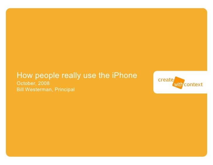 How People Use Iphone