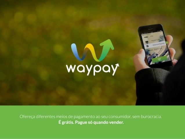 Apresentação WayPay para Vendedores Índice:  Para Vendedores Meios de Pagamentos Aceitos Checkout Online Split de Pagament...