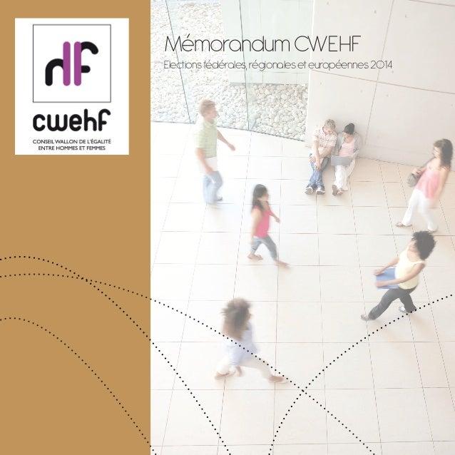 CWEHF Memorandum 2014