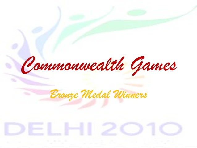 Bronze Medal winners at Commonwealth games 2010