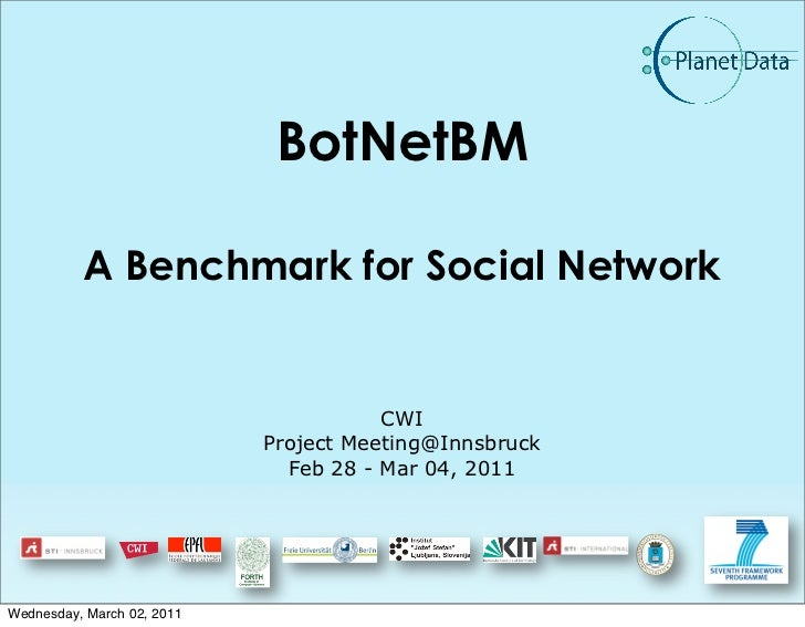 BotNetBM          A Benchmark for Social Network                                       CWI                            Proj...