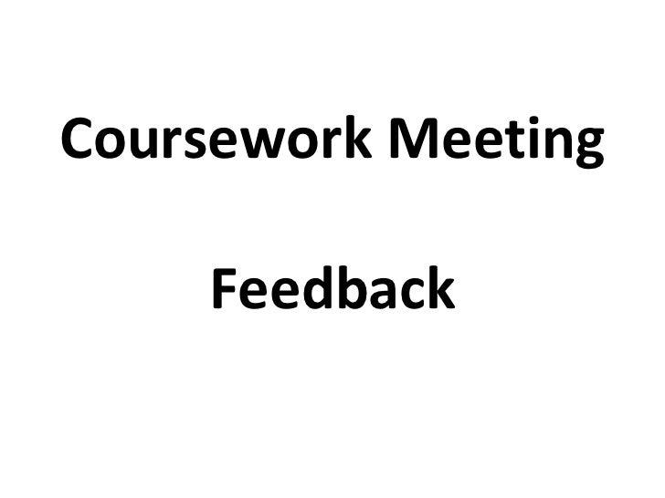 Coursework Advice
