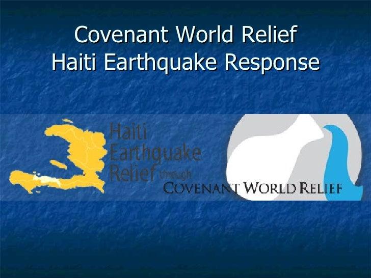 Covenant World Relief Haiti Earthquake Response