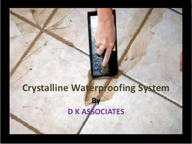 Applying Crystalline Water Proofing Solution