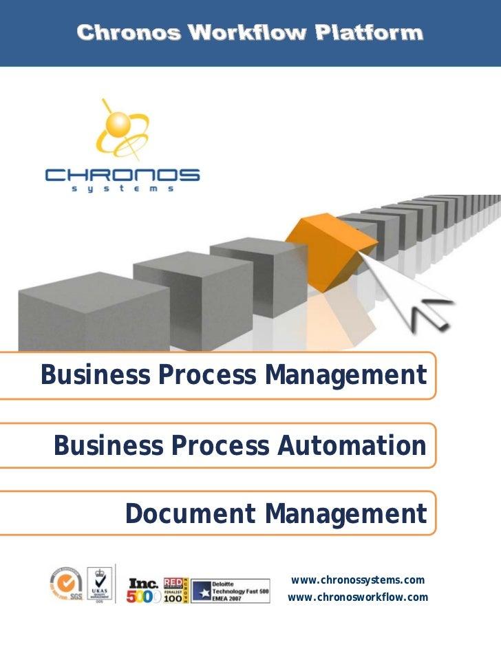 Chronos Workflow Platform Brochure 2011