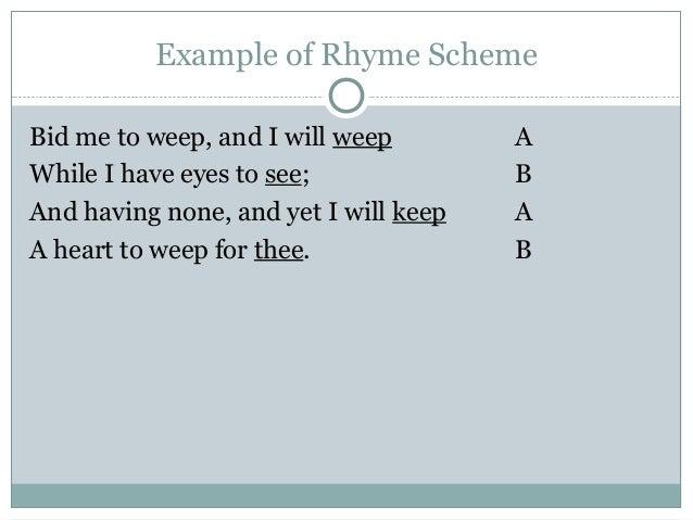 Poetry Rhyme Scheme Worksheet : Fioradesignstudio
