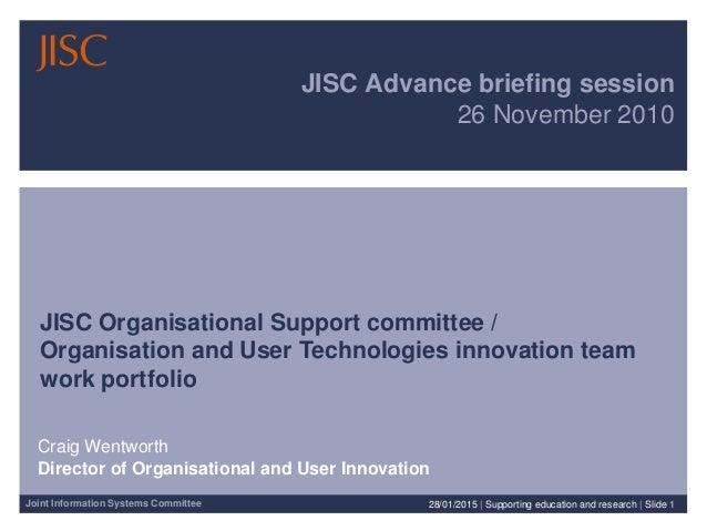 CW presentation to JISC Advance 26 Nov 10 v0.1