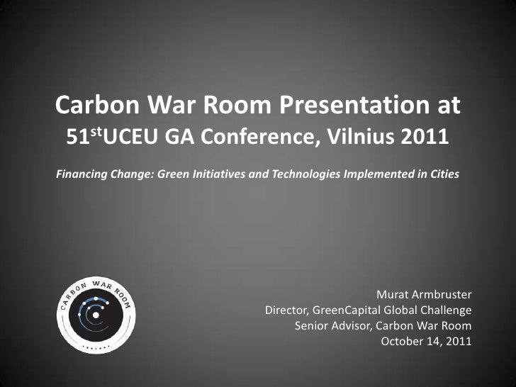 UCEU Vilnius Carbon War Room Presentation
