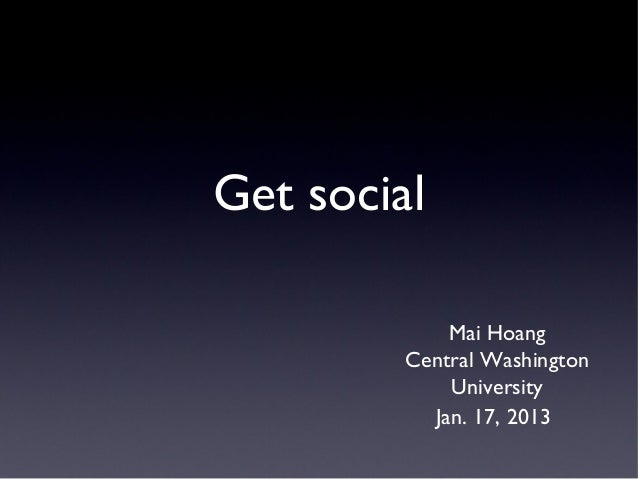 Central Washington University COM 226 presentation