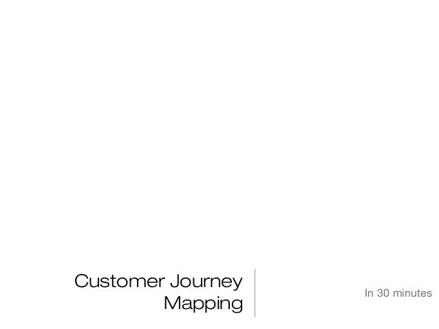 Customer Journey Mapping  In 30 minutes
