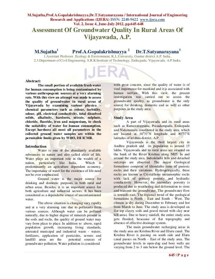 M.Sujatha,Prof.A.Gopalakrishnayya,Dr.T.Satyanarayana / International Journal of Engineering             Research and Appli...