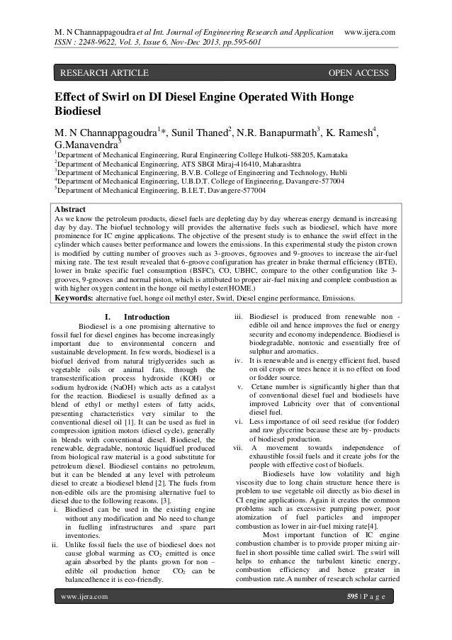 M. N Channappagoudra et al Int. Journal of Engineering Research and Application ISSN : 2248-9622, Vol. 3, Issue 6, Nov-Dec...