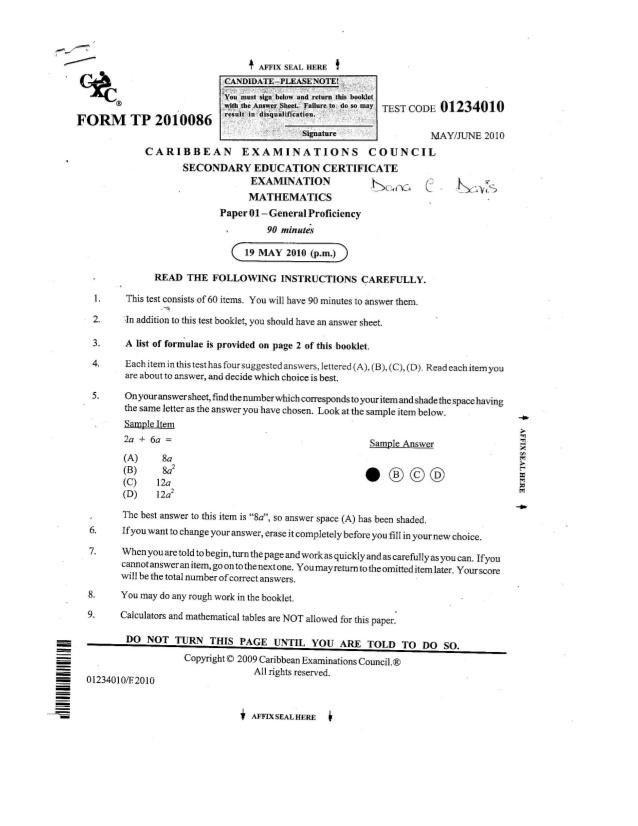 cxc mathematics past papers cxc mathematics study group facebook