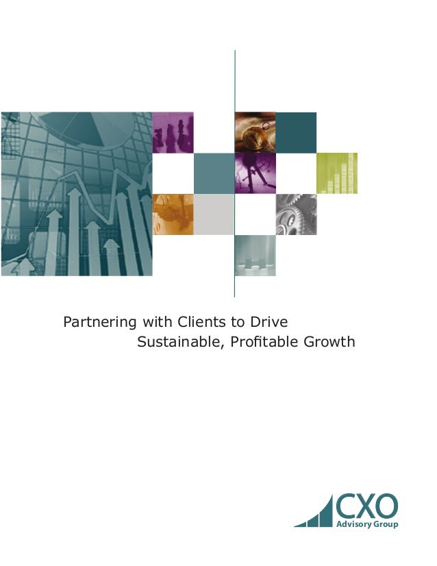 Partnering with Clients to DriveSustainable, Profitable GrowthCXOAdvisory Group