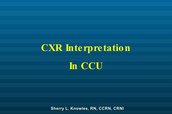 C X R  Interpretation