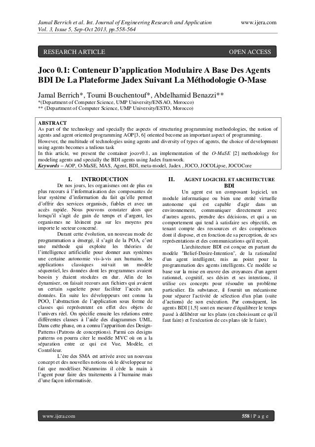 Jamal Berrich et al. Int. Journal of Engineering Research and Application www.ijera.com Vol. 3, Issue 5, Sep-Oct 2013, pp....