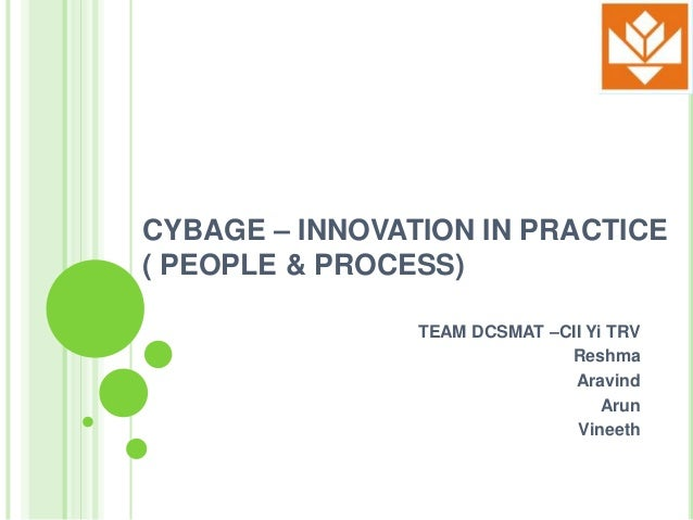 CYBAGE – INNOVATION IN PRACTICE( PEOPLE & PROCESS)                TEAM DCSMAT –CII Yi TRV                              Res...