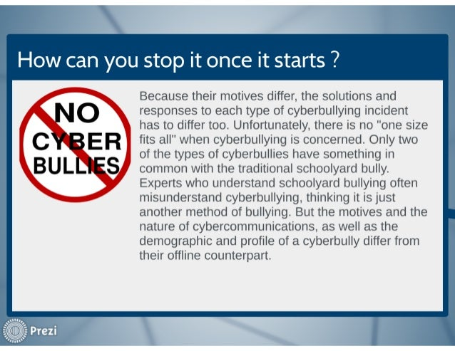 Cyber Bullying How To Stop