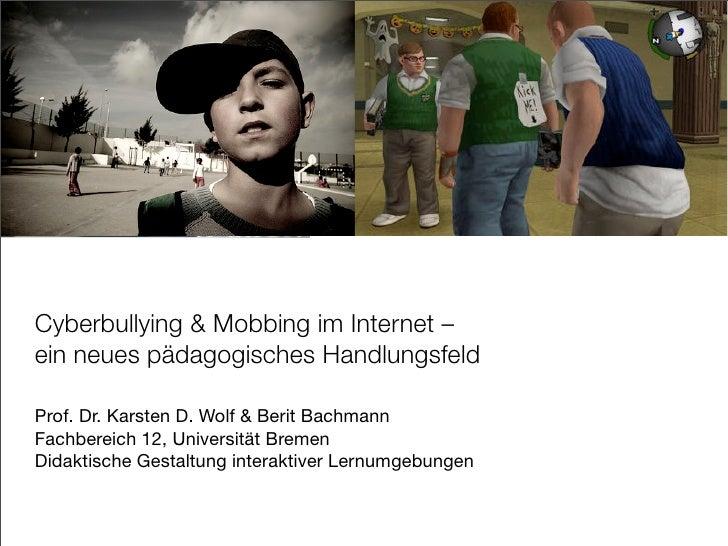 Cyber Bullying und Mobbing im Internet