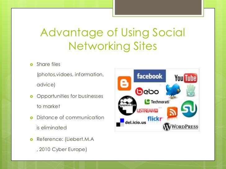 using social networking websites for social