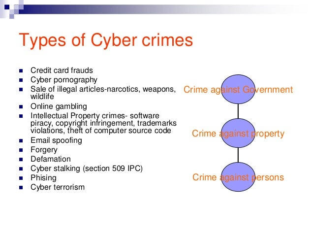 an analysis of the different types of computer crimes Mean the overlap between organised crime and cybercrime, in other words the   therefore it is important to analyse how different forms of cyber-oc mani.