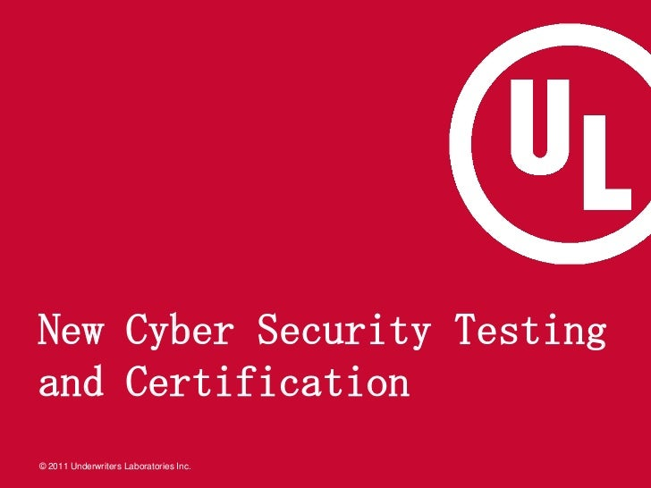 New Cyber Security Testing and Certification