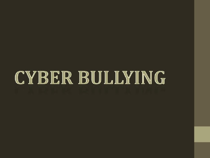 Cyber-bullying is whenthe use ofinternet, cellphones, or anytechnological device isused with the intent ofsending messages...