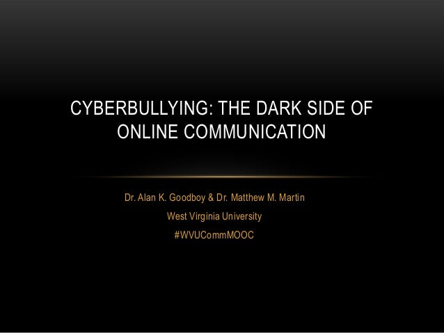 What is Cyberbullying? (#WVUCommMOOC)