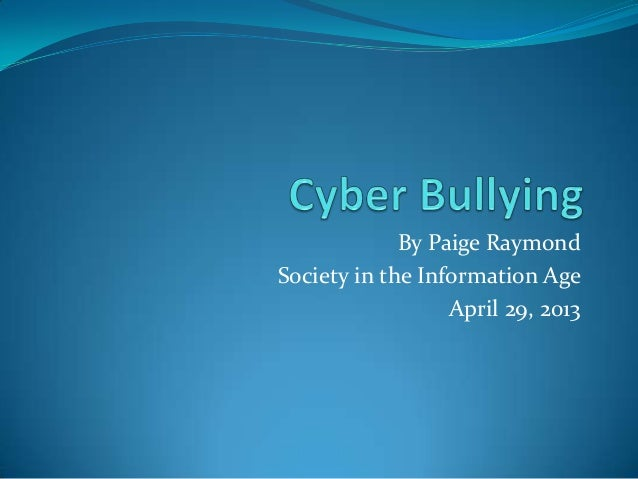 By Paige RaymondSociety in the Information AgeApril 29, 2013