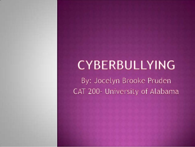 Cyberbullying- Assignment 8