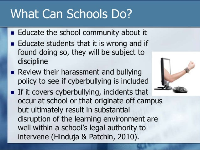 students who commit cyberbullying should be suspended from school The megan meier foundation's resource center is online visit our website to get access to tons of information and resources for students  the school year.