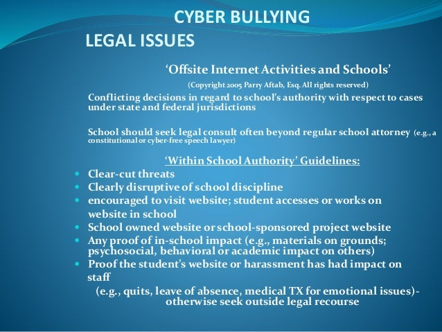 cyber bullying its forms impact and