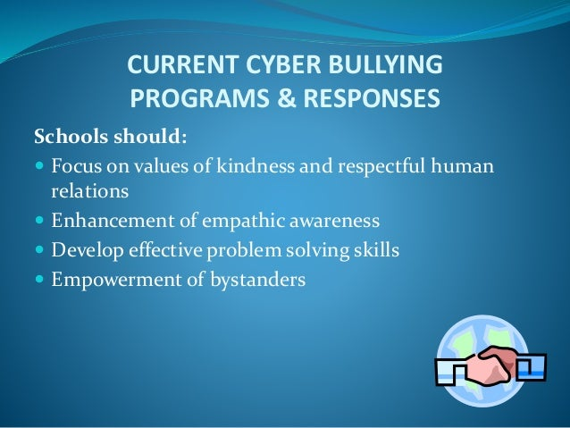 the resources needed to solve the problem of bullying and cyberbullying Home » bullying or cyberbullying » tips to help stop cyberbullying tips to help stop cyberbullying the problem to the service that bullying and.