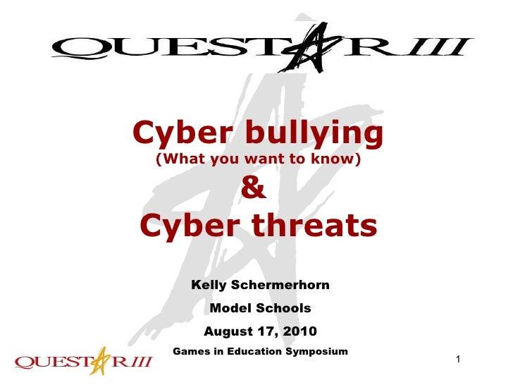 Cyberbullying class symposium