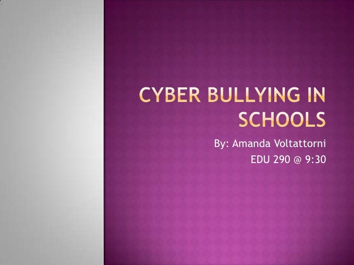 Cyber Bullying In Schools
