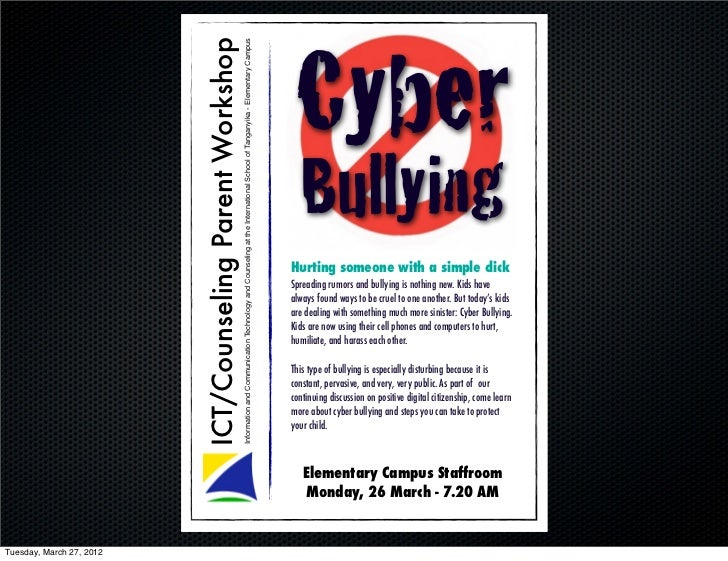 Cyber                          ICT/Counseling Parent Workshop                                                           In...